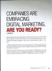 The Singapore Marketer Apr-Jun 2013: Companies Are Embracing Digital Marketing. Are You Ready?