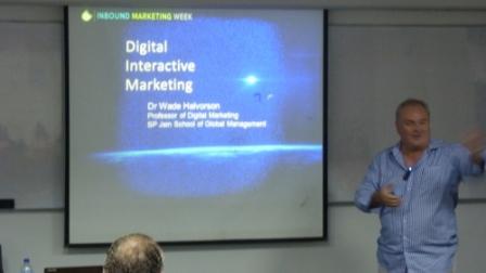 Prof Halvorson at Inbound Marketing Week